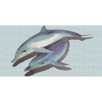 Pool Art BCA003-Mosaic Art, Dolphin Pool Tile, Dolphin Tile Mosaic, Swimming Pool Tile Dolphin