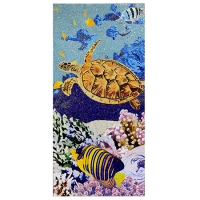 Pool Art KZO039MY-Mosaic Art, Pool Mosaics Turtle, Sea Turtle Mosaic Patterns, Swimming Pool Tile Picture