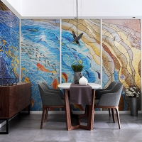 River Vitality KCO041MY-Pool Art, Pool Mosaic Design, Mosaic Wall Art, Custom Mosaic Art Picture