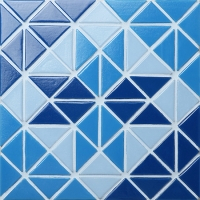 Santorini Blossom TRG-SA-BL-Pool Tiles, Triangle Tile, Swimming Pool Bottom Tile