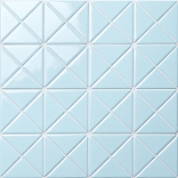 Santorini Pure-Color TR-SA-P1-Triangle Tile, Geometric Triangle Tile, Swimming Pool Tile Blue
