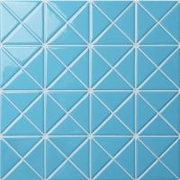 Santorini Pure-Color TR-SA-P2-Triangle Tile, Triangle Tile Design, Swimming Pool Tile
