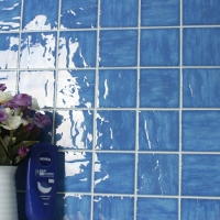 Wave Light Blue BCP602-Mosaic tile, Ceramic mosaic, Wave surface pool tiles, Best pool mosaic prices