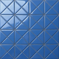 Santorini Pure-Color TR-SA-P3-Triangle Tile, Triangle Ceramic Tile, Swimming Pool Tile Design Mosaic