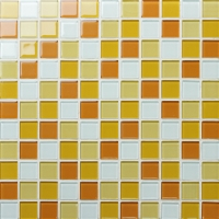 Crystal Glass BRI001-Glass mosaic tile, Crystal glass tile, Crystal clear glass tiles