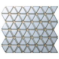 Triangle Pale Blue BCZ626A-blue mosaic tiles bathroom, triangle mosaic tile, porcelain tiles for swimming pools