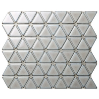 Triangle Light Grey BCZ312A-grey mosaic tiles bathroom, mosaic tiles for shower walls, porcelain mosaic tile backsplash