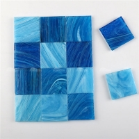 Hot Melt Blue H52+H55+H56-blue glass tile,iridescent glass tile,glass tile bathroom