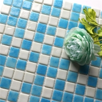 Blue Mix White NU1511-glass mosaic bathroom, cheap mosaic tiles, iridescent mosaic tiles