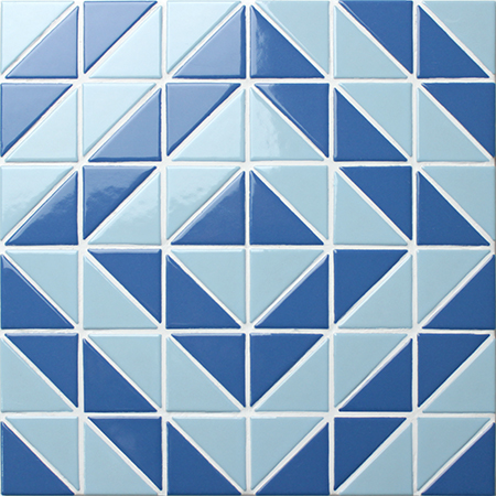 Santorini Time Tunnel TR-SA-TT,Triangle mosaic, Triangle mosaic tile, Triangle mosaic pattern, Pool mosaic tiles