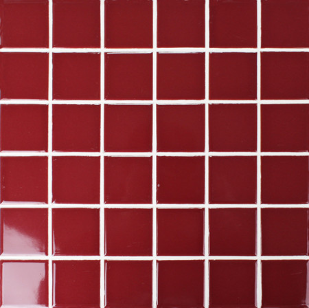 Classic Red Glossy BCK401,Mosaic tiles, Ceramic mosaic, Red mosaic tile, Red tile for pool