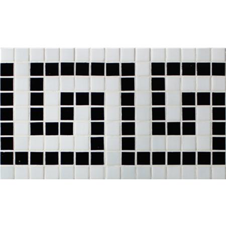 Border Black White Bgeb006 Mosaic Tiles Gl Pool
