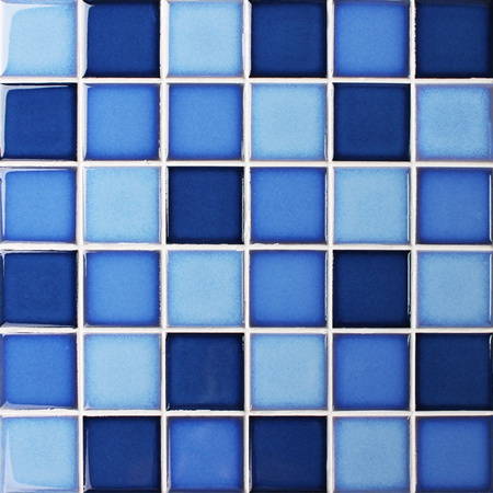 Fambe Blue Blend Bck012 Mosaic Tile Ceramic Mosaic Blue