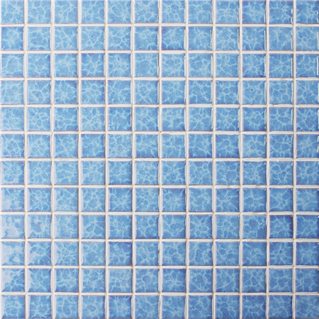Blossom Blue BCH609,Mosaic tile, Ceramic mosaic, Glazed Swimming pool tile, Crystal pool mosaic tile