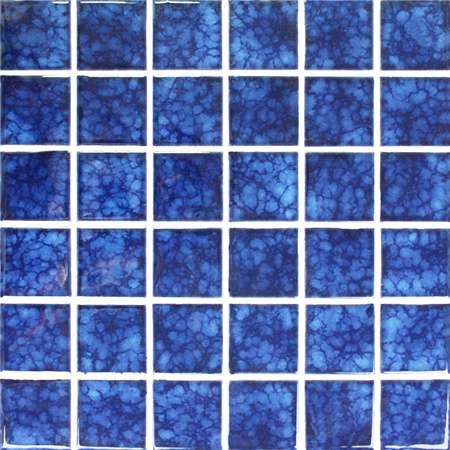 Blossom Dark Blue BCK639,Mosaic tiles, Ceramic mosaic, Dark blue mosaic pool tiles