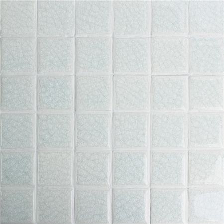Frozen White Crackle BCK203,Mosaic tiles, Ceramic mosaic, White swimming pool tiles