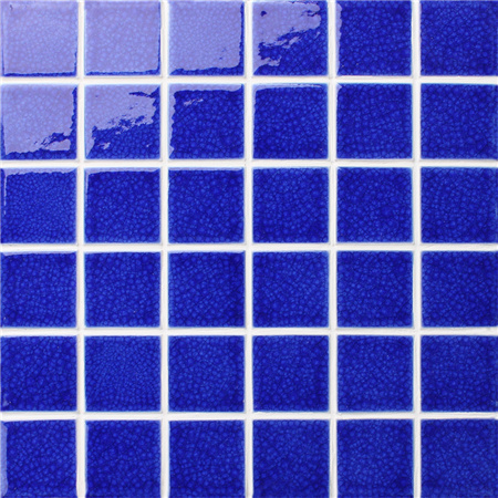 Frozen Blue Crackle BCK657,Pool Mosaic, Ceramic mosaic, Glazed ceramic mosaic tile