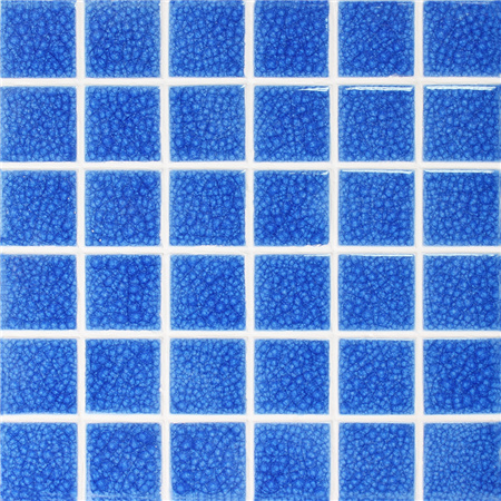 Frozen Blue Heavy Crackle BCK661,Pool tile, Pool mosaics, Ceramic mosaic tile, Glazed ceramic pool tile
