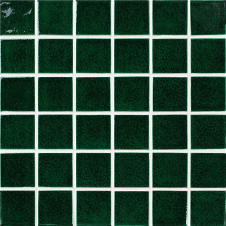 Frozen Green Crackle BCK713,Pool tile, Pool mosaic, Ceramic mosaic, Ceramic mosaic pool, Green pool tiles