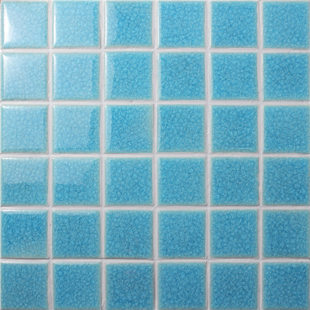 Frozen Blue Ice Crack BCK610,Mosaic tile, Ceramic mosaic, Ice crack pool mosaic, Swimming pool tile wholesale