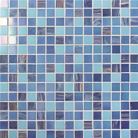 Luxury Blue Blend Gold Line BGE001,Pool tiles, Glass mosaic tiles, Glass mosaic backsplash