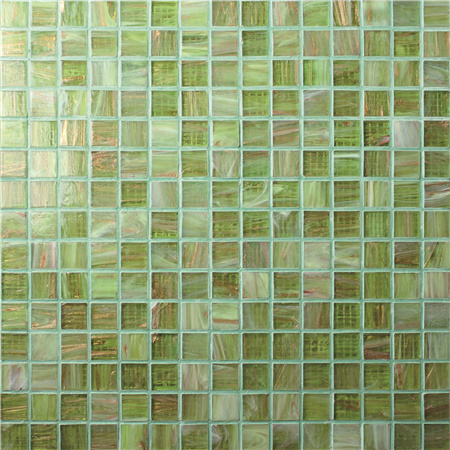 Luxury Green Blend Gold Line BGE002,Pool tiles, Glass mosaic tile, Glass mosaic design