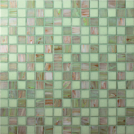 Luxury Green Blend Gold Line BGE003,Pool mosaic, Glass mosaic tiles, Glass mosaic kitchen backsplash