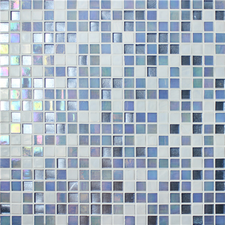 Square Multicolored BGC012,Pool tile, Pool mosaic, Glass mosaic, Glass mosaic tile shower floor