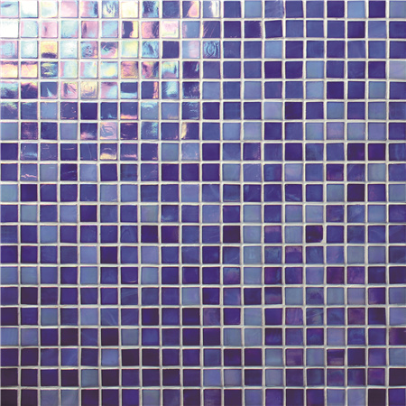 Rainbow Iridescent Blue BGC013,Mosaic tile, Glass mosaic, Glass mosaic pieces, Glass mosaic tile backsplash