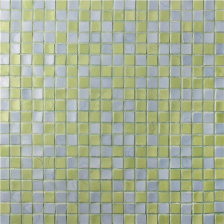 Square Yellow Blended Bgc017 Pool Tiles Pool Mosaic