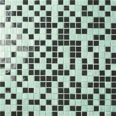 Square Multicolored BGC018,Pool tile,Pool mosaic, Glass mosaic, Square melting glass mosaic