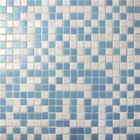 Carre Bleu Mix Blanc Bgc019 Carrelage De Piscine Mosaique De
