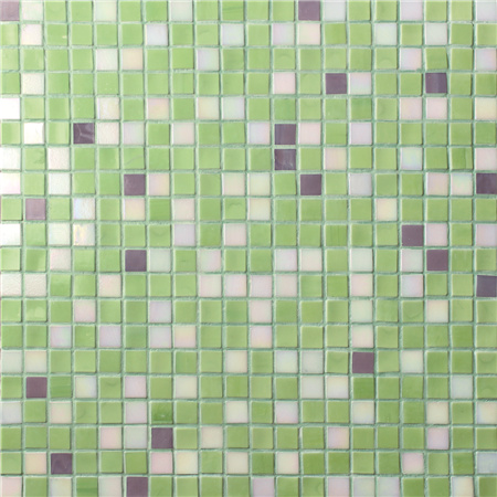 Square Green Mixed BGC026,Pool tile, Swimming pool mosaic, Glass mosaic, Glass mosaic tile sheets