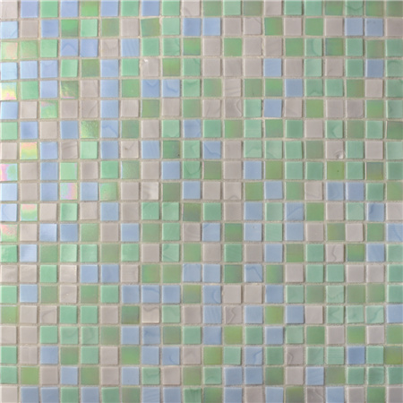 Square Glowing Green Blend BGC028,Pool tile, Swimming pool mosaic, Glass mosaic, Glass mosaic tile shower