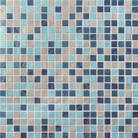 Sqaure Melting Blue Mix BGC033,Pool tile, Pool mosaic, Glass mosaic, Glass mosaic tile blue