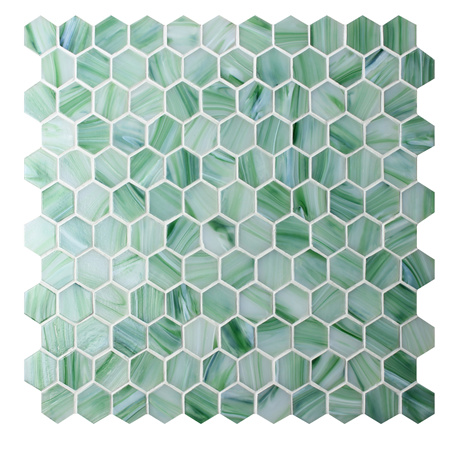 Hexagon Green Bgz025 Pool Tiles Pool Mosaic Glass