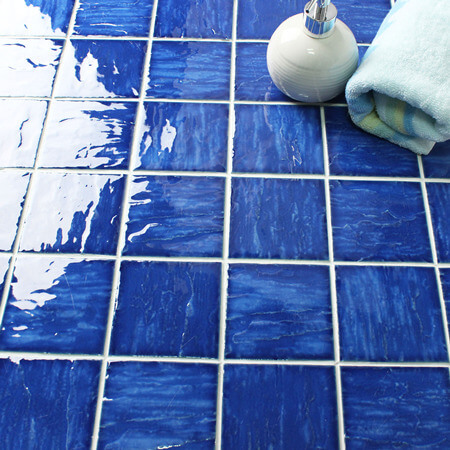 Wave Dark Blue BCP603,Mosaic tile, Ceramic mosaic tile, Cheap mosaic supplies, Pool mosaic tiles China