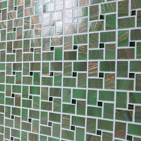 Luxury Mossy Green Windmill BGZ017,Mosaic tile, Glass mosaic, Green glass mosaic for pool, Pool mosaic tiles supplies