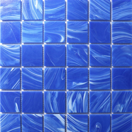 Venus Cloud BGN604,Pool Tile, Glass Mosaic, Blue Glass Tile
