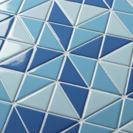 Santorini Blossom Tr Sa Bl Triangle Mosaic Triangle