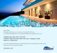 Discover Bluwhale Tile at Asia Pool & Spa Expo 2018-Pool Tile Supplier, Pool Tiles Wholesale, Pool Tiles Manufacturers