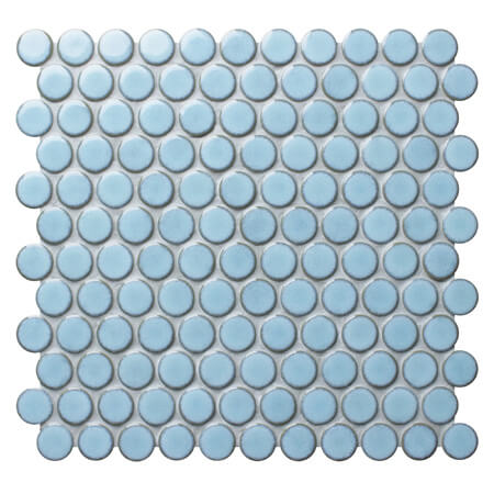 Blithe Blue BCZ925A,Round mosaic patterns, Penny round mosaic floor tiles, Round mosaic bathroom tiles