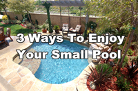 3 Ways To Enjoy Your Small Pool-small swimming pool design, small backyard pool, mosaic tile for small pool