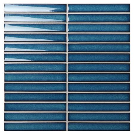 Bande Bleu Fonce Bcz629z Carreaux De Mosaique Bleu Salle De Bain
