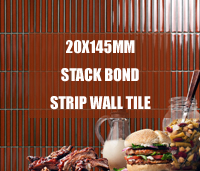 New Collection: 20x145mm Stack Bond Porcelain Mosaic Strip Wall Tile -strip mosaic tiles, mosaic strip wall tile, stack bond tile backsplash, stack bond mosaic tile