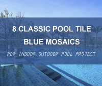 8 Classic Pool Tile Blue Mosaics For Indoor Outdoor Pool Project- classic pool tile, ceramic pool tiles, pool tile mosaics wholesale