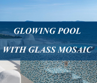 5 Golden Line Glass Mosaic Makes A Glowing Swimming Pool-pool tiles glass, pool tiles luxury, swimming pool tile glass mosaic
