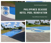 Swimming Pool Project: Philippines Seaside Hotel Pool Renovation-swimming pool tiles, ceramic pool tile, swimming pool tile suppliers