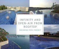 Swimming Pool Project: Infinity And Open-Air From Rooftop-Swimming Pool Installation, Pool Renovation, Swimming Pool Tile, Pool Tile Wholesale
