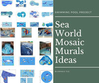 Swimming Pool Projects: Sea World Mosaic Murals Ideas-swimming pool designs, dolphin pool mosaic, swimming pool mosaic tiles,swimming pool mosaic art